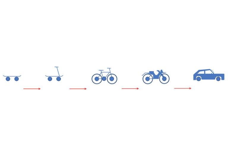 MVP-skateboard, scooter, bike, motorcycle, car blue red arrow