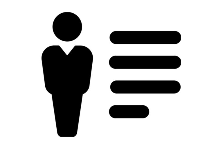 logo person notes black and white lines
